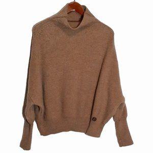 Gucci Dolman Funnel Neck High Cuff Wool Sweater S